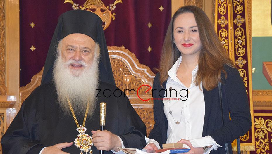 Ξεχωριστή στιγμή για τον Απόστολο Βεσυρόπουλο, η βράβευση της αριστούχου Χρυσούλας του!