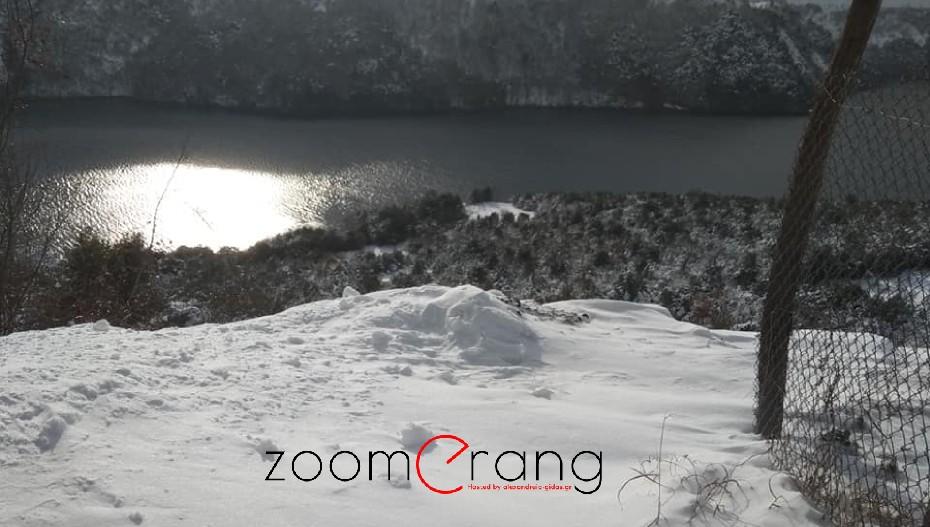 Ο παγετός «εμπόδισε» την κατάδυση του Σταυρού στα νερά του Αλιάκμονα.