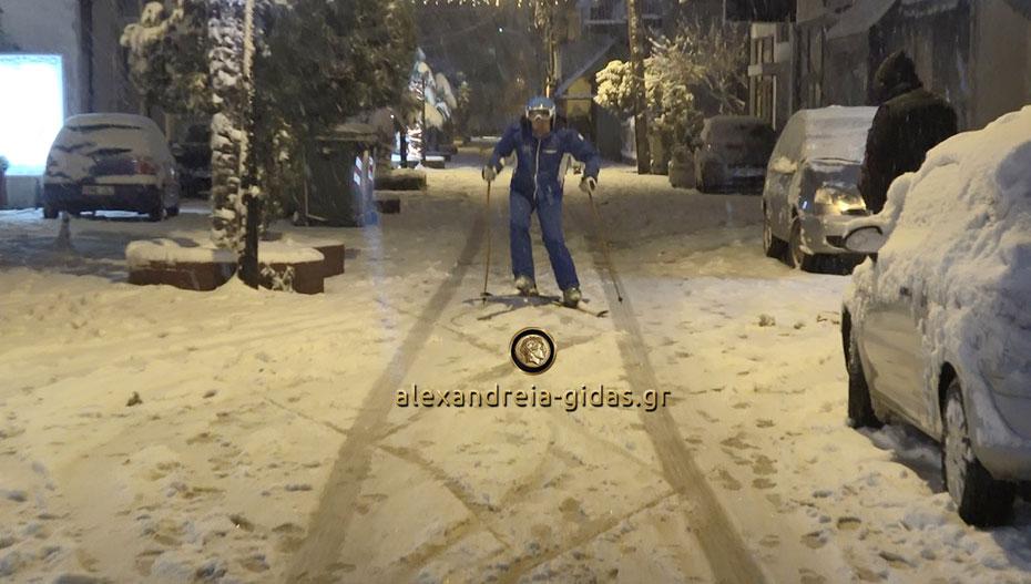 Έκανε σκι σε δρόμους της… Αλεξάνδρειας!