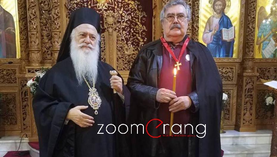 Ο Αντώνης Καγκελίδης ευχαριστεί Πατριάρχη και Μητροπολίτη για την ανάδειξή του ως Άρχοντα Νοταρίου του Οικουμενικού Θρόνου
